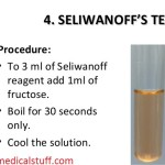 Seliwanoff's test for the detection of Fructose