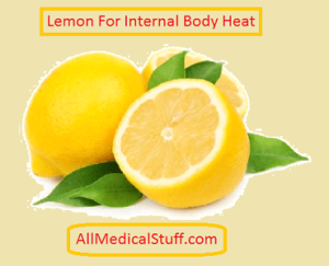 use lemon to reduce internal body heat
