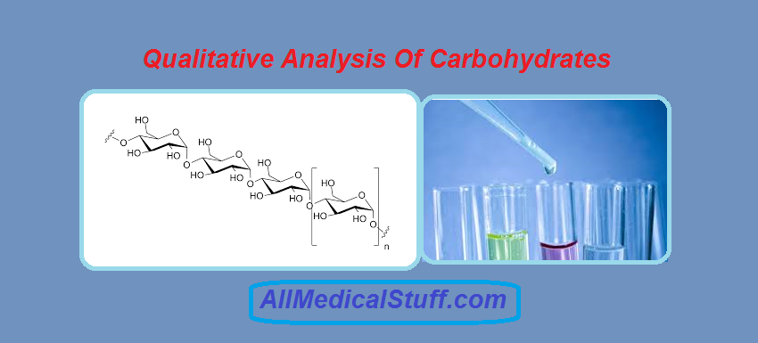 qualitative analysis of carbohydrates Qualitative analysis test is concerned with determining, the identity of a substance enables us to detect the presence of things which may be beyond the reach of our senses.