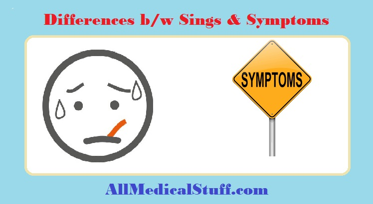 differences between signs and symptoms